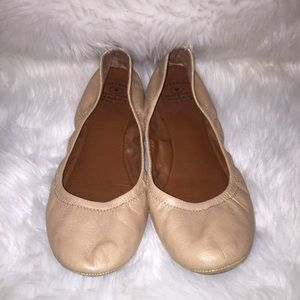 Lucky Brand Nude Ballet Leather Flats